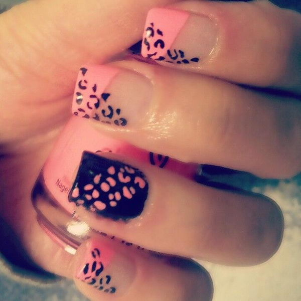 cheetah print nail designs with bow joy studio design