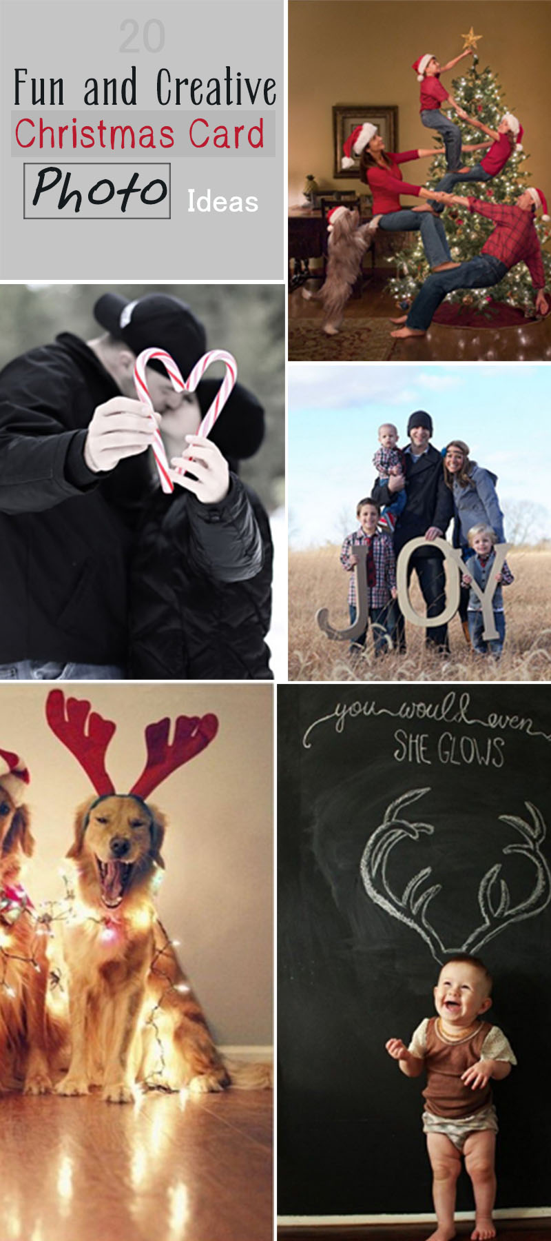Fun and Creative Christmas Card Photo Ideas!