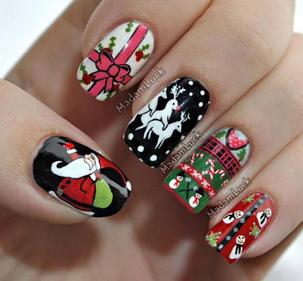 25 Cool Christmas Nail Designs