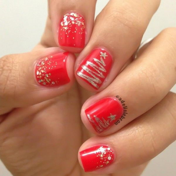 Cool Christmas Nail Designs. Decorate your nails in the spirit of Christmas. - 25 Cool Christmas Nail Designs - Hative