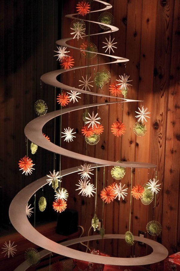 30 creative christmas tree decorating ideas hative creative christmas tree decorating ideas give you a chance to express your creativity and it solutioingenieria Gallery