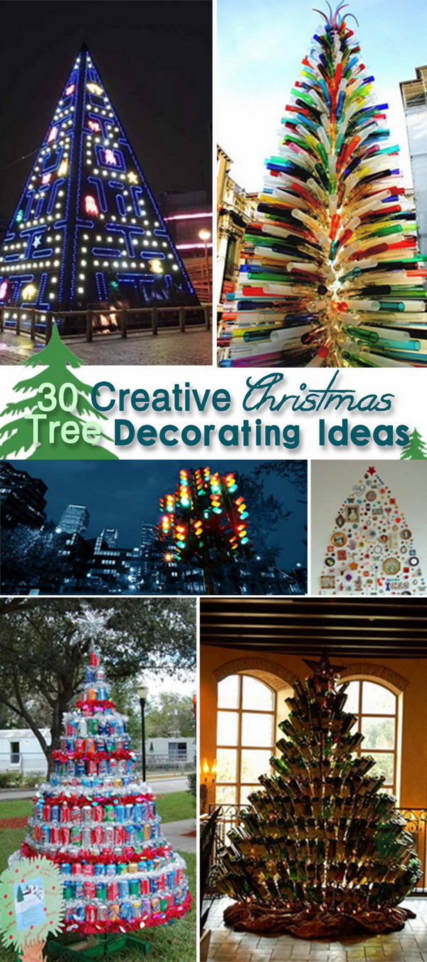 30 creative christmas tree decorating ideas hative for Creative christmas decorations