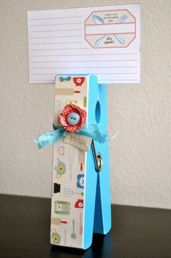 Recipe card holder.