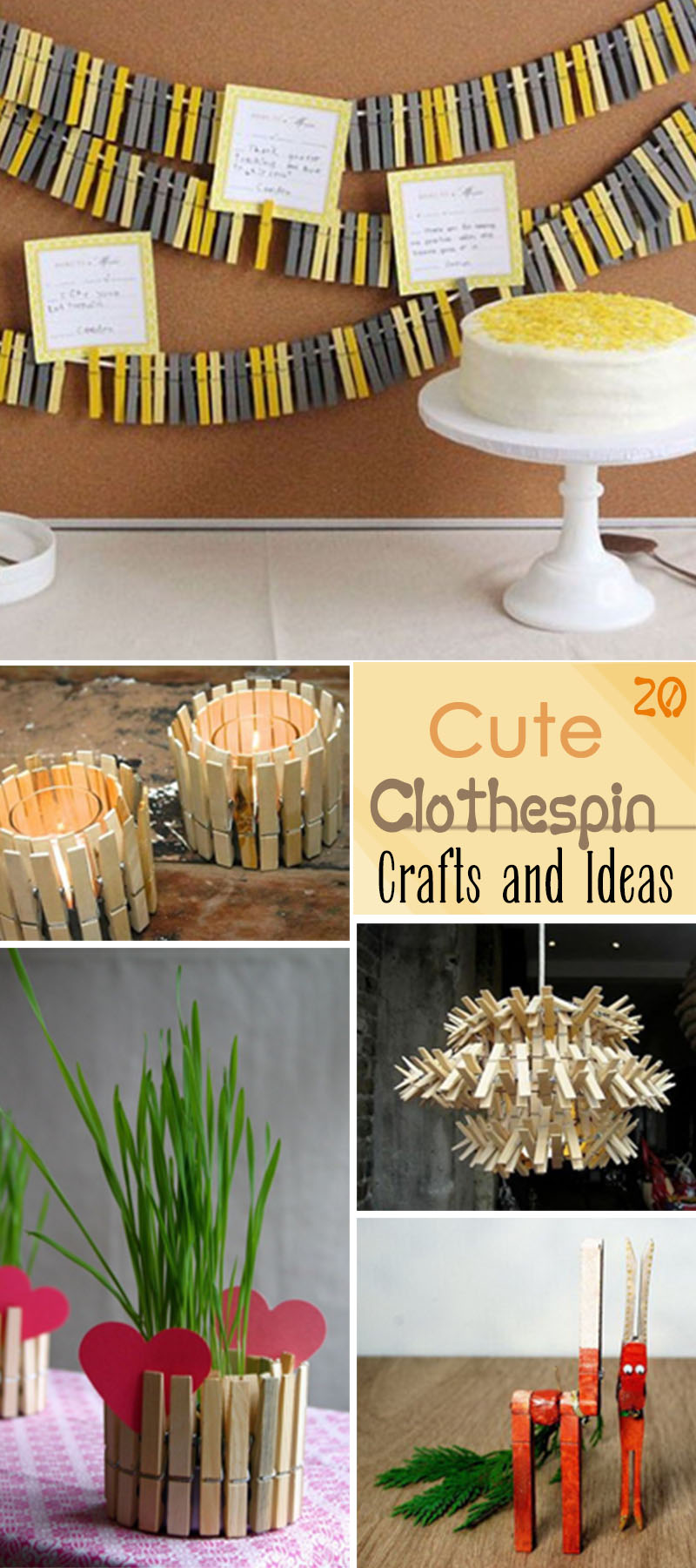 Cute Clothespin Crafts and Ideas!