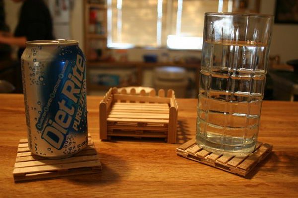 Pop Stick Pallet Coasters.