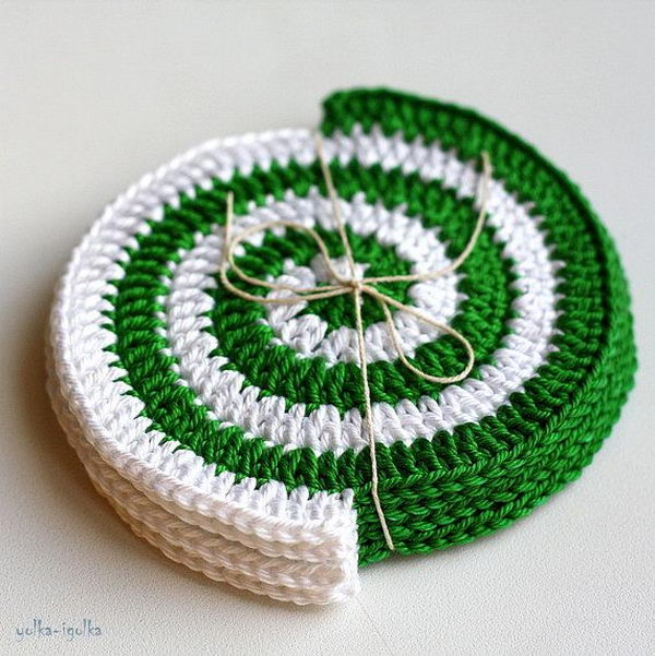 Crocheting Coasters : Crochet Coaster.