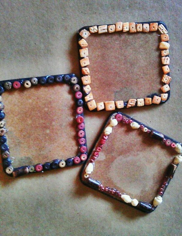 Upcycled Square Coasters.