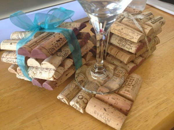 Wine Cork Coasters.