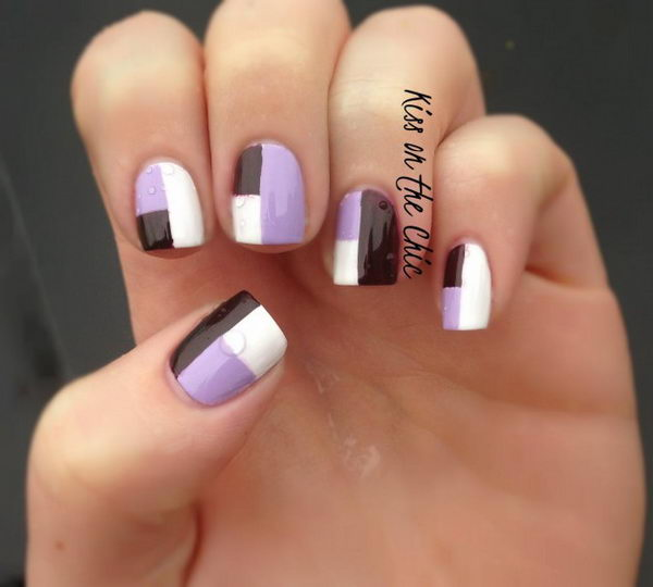 Cool Color Block Nail Designs Hative