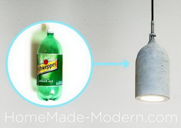Homemade Concrete Pendant Lamp. Concrete isn't just for the infrastructure and base of certain buildings. You can use concrete in a variety of DIY projects, and infuse it into everyday products.