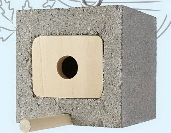 Cinder Block Birdhouse. Concrete isn't just for the infrastructure and base of certain buildings. You can use concrete in a variety of DIY projects, and infuse it into everyday products.