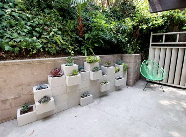 Cinder Block Stacked Planters. Concrete isn't just for the infrastructure and base of certain buildings. You can use concrete in a variety of DIY projects, and infuse it into everyday products.