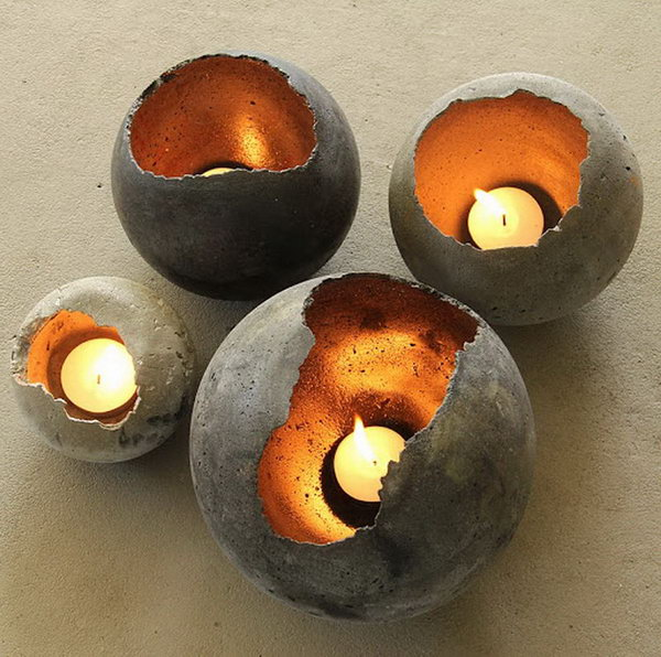 Hand Blown Concrete Bowls. Concrete isn't just for the infrastructure and base of certain buildings. You can use concrete in a variety of DIY projects, and infuse it into everyday products.