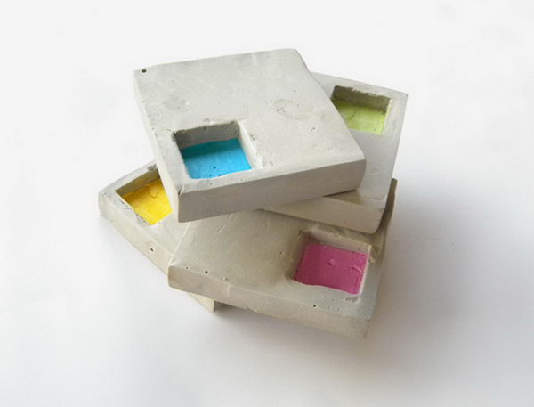Industrial Style Geo Cement Coasters. Concrete isn't just for the infrastructure and base of certain buildings. You can use concrete in a variety of DIY projects, and infuse it into everyday products.