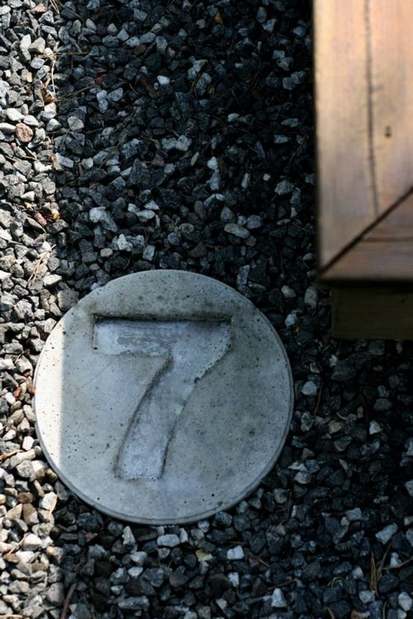 Concrete House Number. Concrete isn't just for the infrastructure and base of certain buildings. You can use concrete in a variety of DIY projects, and infuse it into everyday products.
