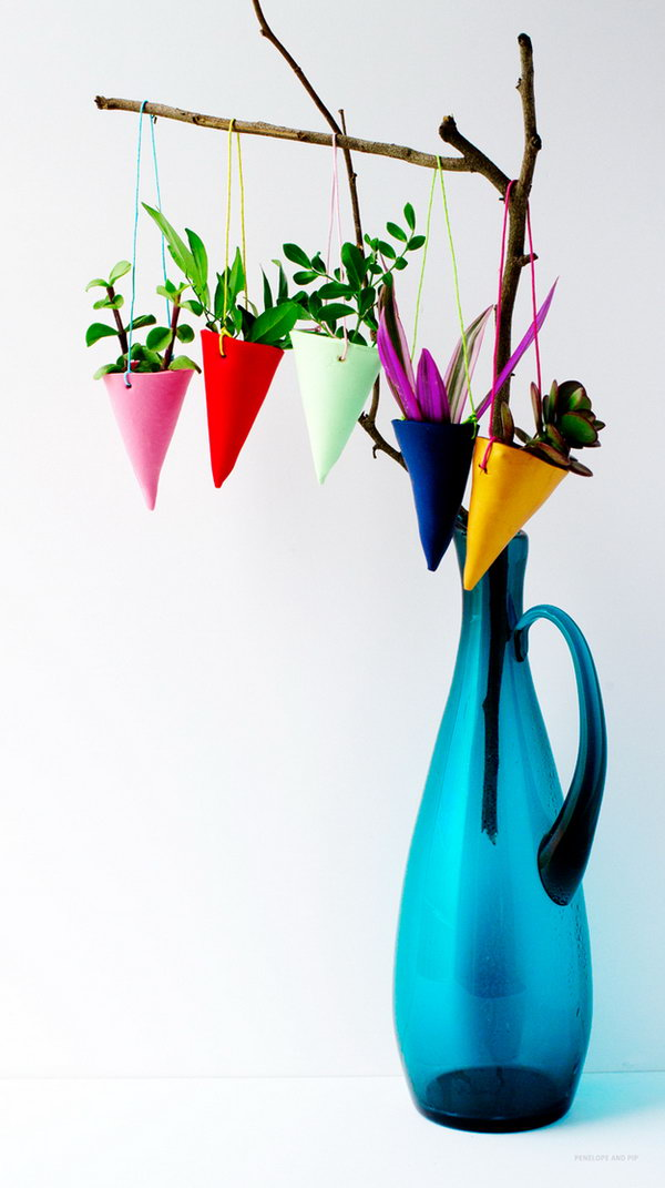 Colorful hanging garden. These container gardening ideas offer a great way to brighten your surroundings immediately. Make your home look different unique and interesting.