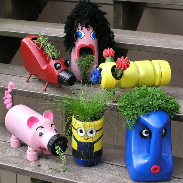 Cute Upcycled Planters For Kids These Container Gardening Ideas Offer A Great Way To Brighten