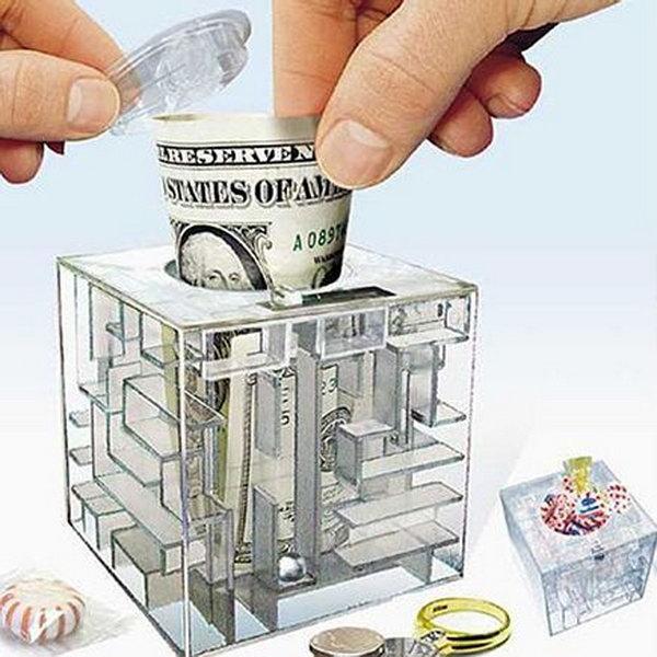 15 creative piggy banks make saving fun hative for Maze coin bank