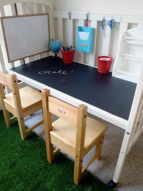 15 creative old crib repurpose ideas hative. Black Bedroom Furniture Sets. Home Design Ideas