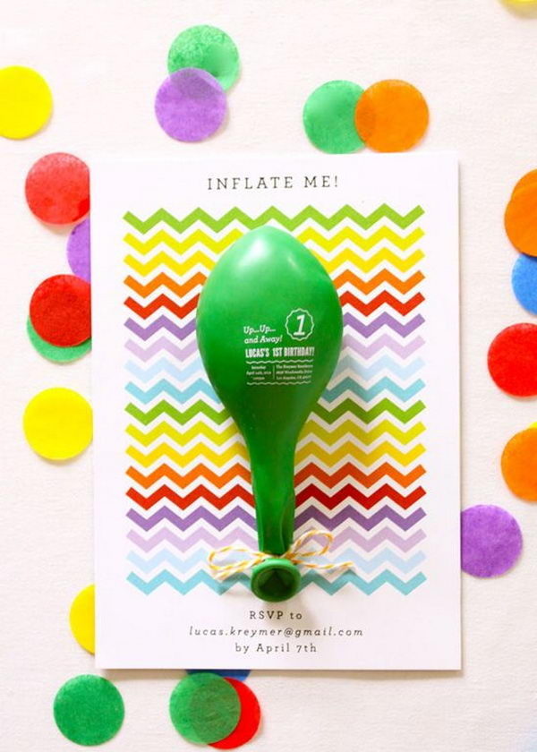 Event Details Printed on a Balloon. Rainbow colors are perfect for a festive event, from kids or adult birthdays to anniversaries or graduation.
