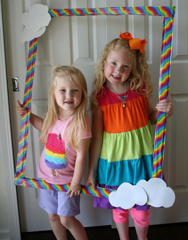 Rainbow Party Photo. Rainbow colors are perfect for a festive event, from kids or adult birthdays to anniversaries or graduation.
