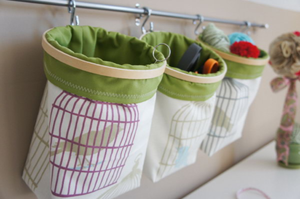 fabric hanging baskets. Smart well organized bright and beautiful. The right storage & 15 Cool DIY Storage Containers - Hative