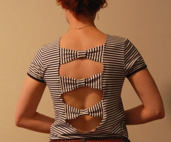 DIY Bow T Shirt Cutting Design.