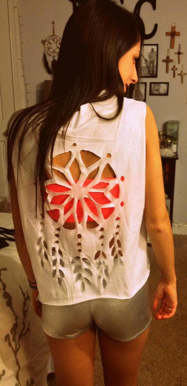 25 diy t shirt cutting ideas for girls hative - T Shirt Cutting Designs Ideas