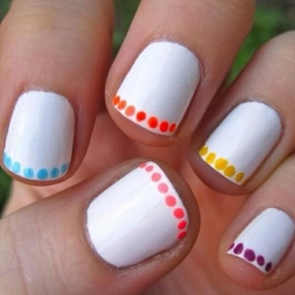 30 easy nail designs for beginners hative easy nail designs for beginners so cute and simple that you can do it yourself prinsesfo Image collections