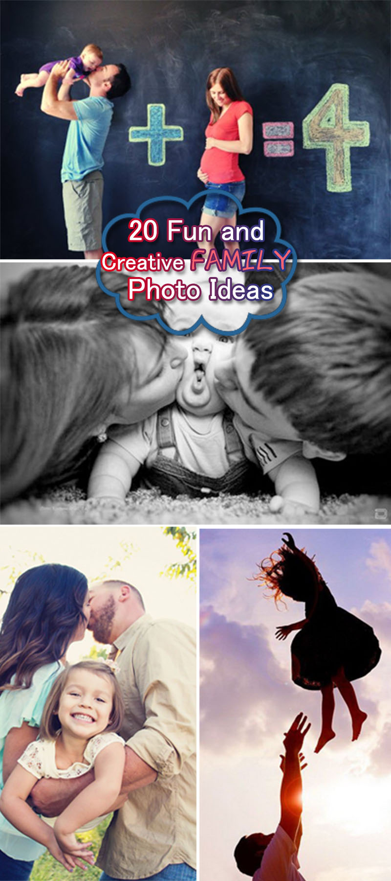 Fun Creative Family Photo Ideas