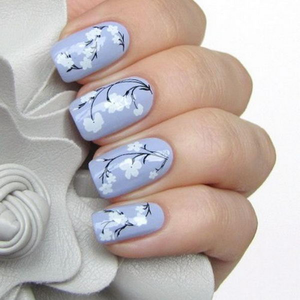 Floral Manicures For Spring And: 30 Pretty Flower Nail Designs