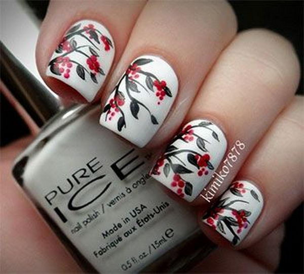 Pretty Flower Nail Art. These flower designs are so cute and make a regular manicure look like a piece of artwork.
