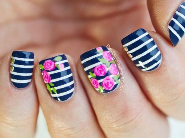 Nail Art Flower Designs Pictures