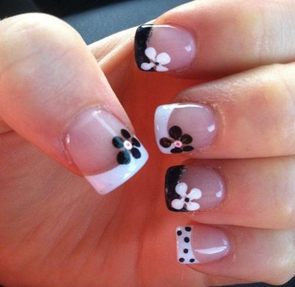 30 Pretty Flower Nail Designs