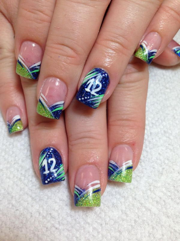 25 Cool Gel Nails Design Ideas: 25 Cool Football Nail Art Designs