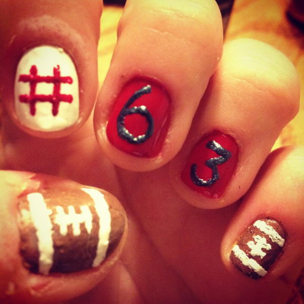 25 Cool Football Nail Art Designs Hative