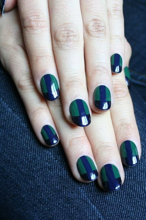 Green Nail Art, which can be combined with patterns of grass, Christmas  tree or - Green Nail Designs - Hative
