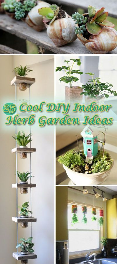 Cool DIY Indoor Herb Garden Ideas.