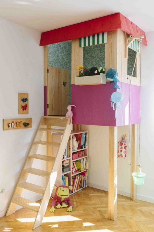 Great Creative Indoor Playhouse. Great Idea To Bring The Fun Indoors.