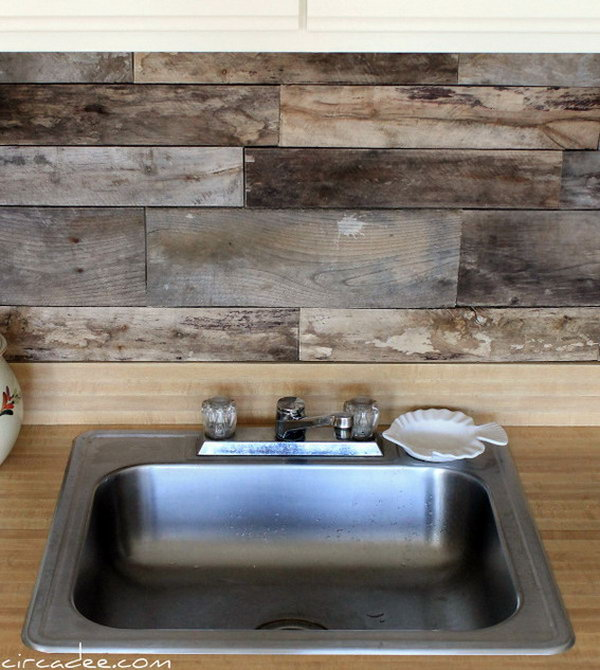 Wood Tile Kitchen Backsplash: 10+ Creative Kitchen Backsplash Ideas