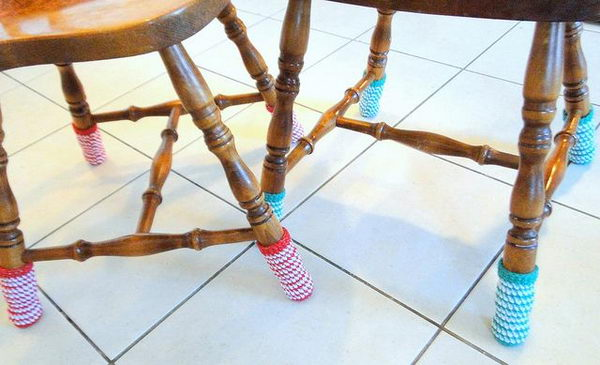Knitted Chair Socks. Cool Knitting Project Ideas