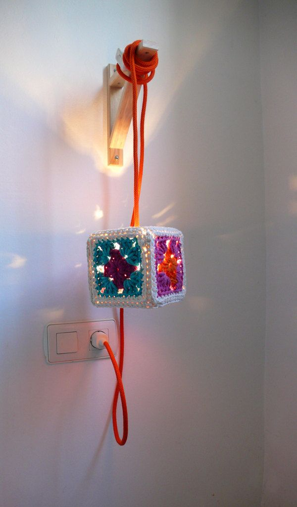 Crochet Lampshade. Cool Knitting Project Ideas