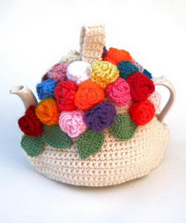 Crochet Teapot Cosy. Cool Knitting Project Ideas
