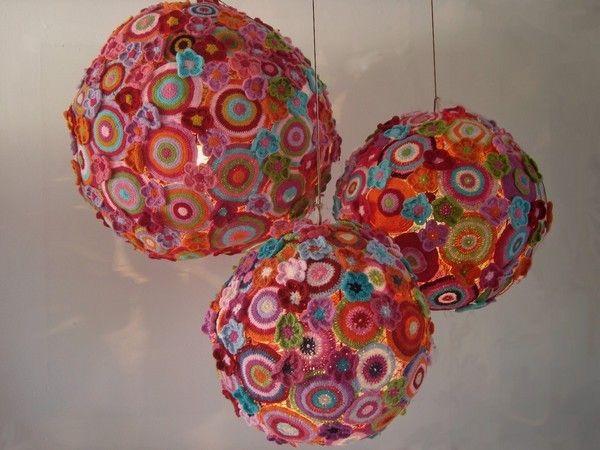 Crochet Chandelier. Cool Knitting Project Ideas