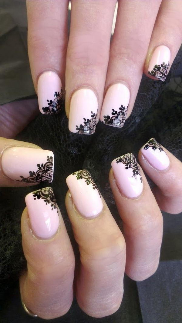 20 Fashionable Lace Nail Art Designs Hative
