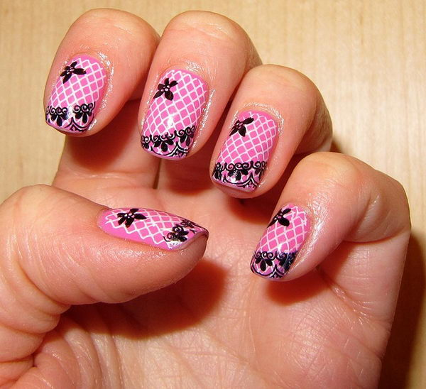 Nail Art History: 20 Fashionable Lace Nail Art Designs
