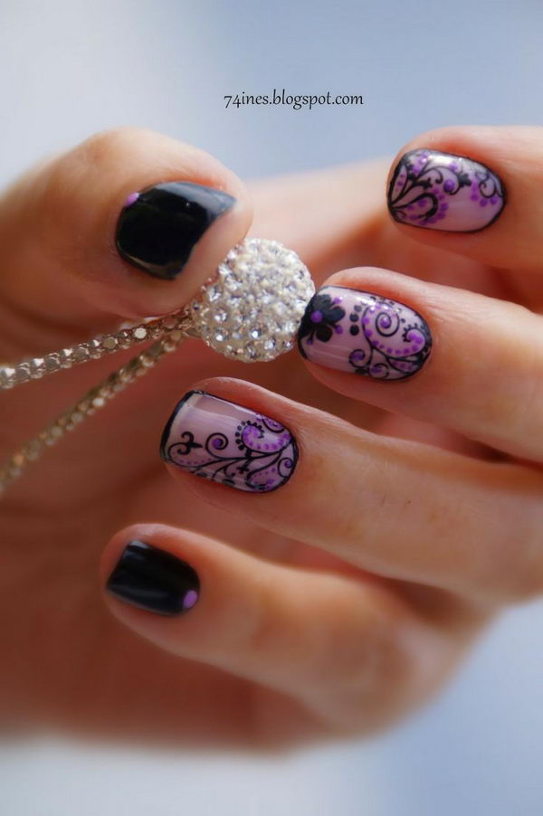 20 Fashionable Lace Nail Art Designs - Hative