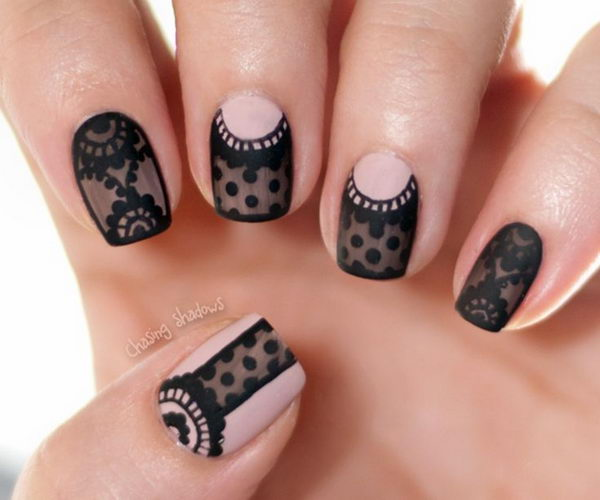 20 Black Nail Artists On Instagram Who Slay The Manicure: 20 Fashionable Lace Nail Art Designs