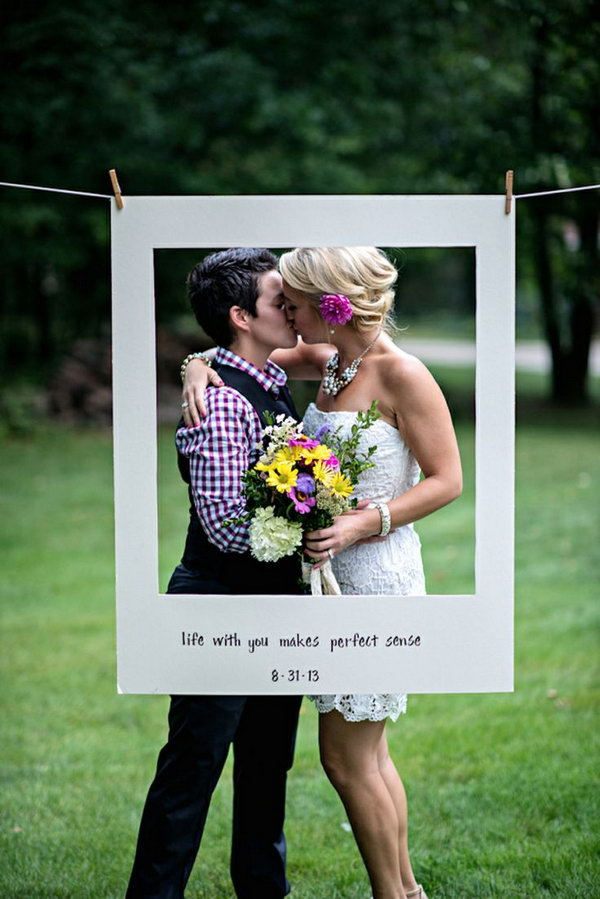 christmas photo booth prop ideas - 15 Cute Lesbian Wedding Ideas Hative