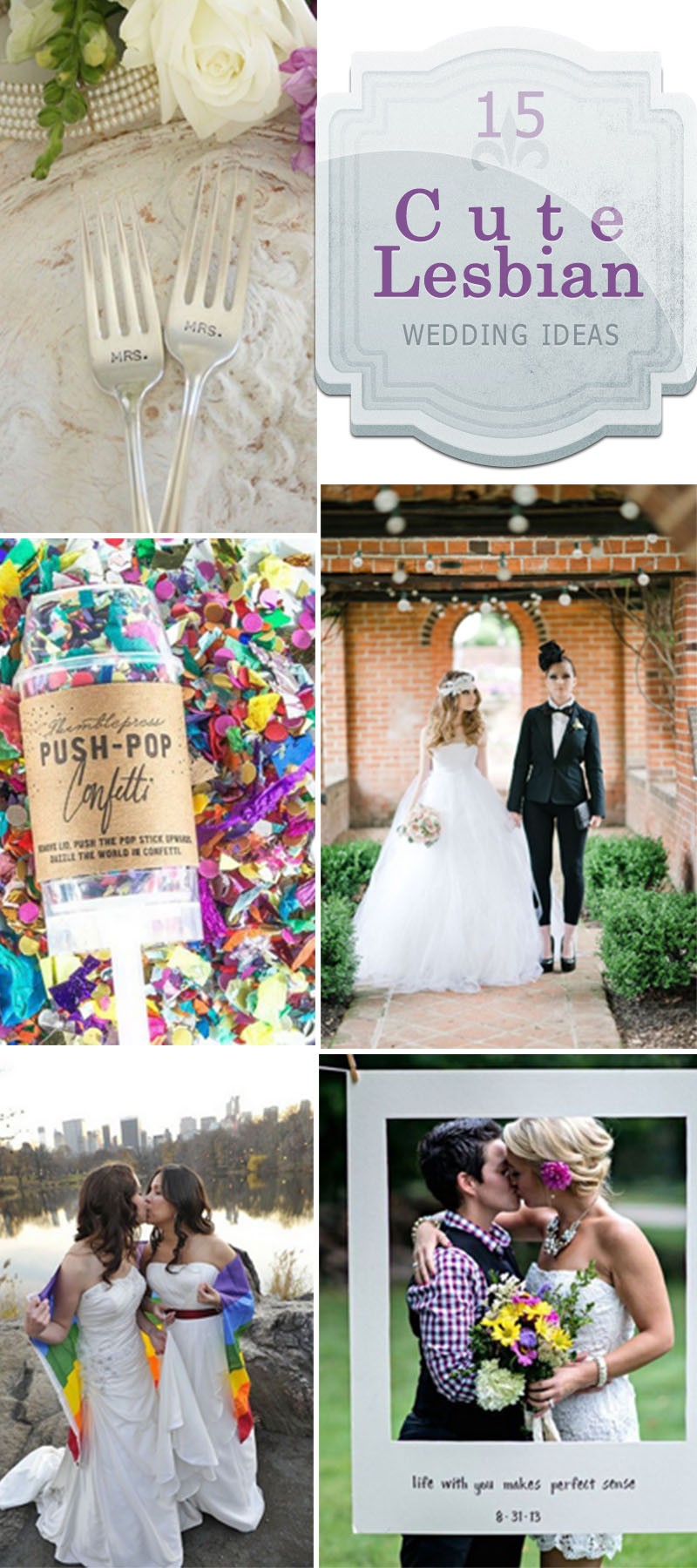 Wedding Ideas Peacock Themed: 15 Cute Lesbian Wedding Ideas